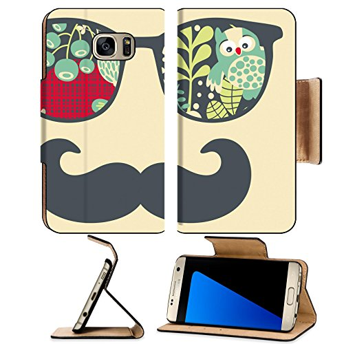 Luxlady Premium Samsung Galaxy S7 EDGE Flip Pu Leather Wallet Case IMAGE ID: 26796200 Retro sunglasses with reflection for hipster Vector illustration of accessory eyeglasses isolated - Italia Eyeglasses