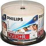PHILIPS DVD+R 8.5G INKJET DUAL,LAYER,CAKE BOX, 50PKS, 600/CRN A2