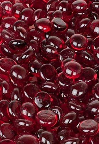1KG app 230 RED Round Glass Pebbles/Stones/Gems/Nuggets /Beads Approximately 17-20mm Soothing Ideas Ltd