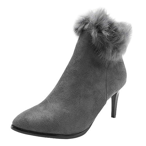 ... Alto Inverno Stivali Donna - Invernali Elegante Scarpe Zip Stivali da  Neve 8 CM Alto Scarpe Caldo Pelliccia Stivaletto Boots  Amazon.it  Scarpe e  borse 84241e205b6