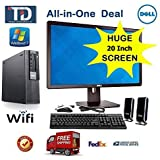 Dell Optiplex 980 SFF, Core i5, 3.2GHz, 8GB, 500GB, DVDROM, Windows 7 Pro, *** Wi-Fi USB Adaptor ***, FREE NEW KEYBOARD + MOUSE + SPEAKER *** PLUG AND PLAY ALL-IN-ONE SYSTEM - *** with 20 DELL LCD SCREEN *** By TDi Computers