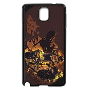 Caso Valentino Rossi 005 Samsung Galaxy Note 3 cubierta de la caja del teléfono celular Negro Cubierta EVAXLKNBC04805