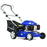Hyundai 139cc 410 mm Petrol Push Rotary Lawn Mower HYM43P 6 Cutting Heights, Soft Grip Handle
