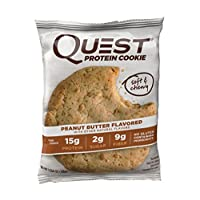 Deals on 12-Pack Quest Nutrition Protein Cookie, Peanut Butter 15g Protein