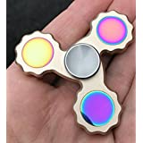 Newest Hands Spinner, New 2017 Fidget SpinnerMade of Aluminum Toy by Boxgear. Pure Copper Triangle Hand Spinner Fidget Toy Luxury Quality 1-5 Minutes Average Spins Metal EDC ADHD Focus Toy