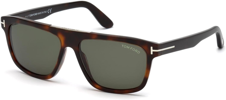 c15e14287d Amazon.com  Tom Ford FT0628 52N Dark Havana Cecilio Rectangle Sunglasses  Lens Category 3 Si  Tom Ford  Clothing