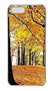 Case For Iphone 6 Plus 5.5 Inch Cover Nature Golden Leaves PC Custom Case For Iphone 6 Plus 5.5 Inch Cover Cover Transparent