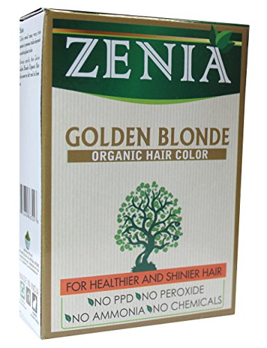 - Zenia Organic Henna Hair Color Golden Blonde 100g