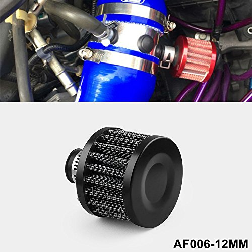 Ryanstar 12mm Air Filter Cold Air Intake Filter Breather Turbo Vent Universal Air Intake Filter Cleaner ()