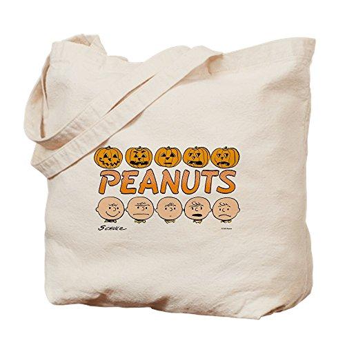 CafePress Peanuts Halloween Trick Or Treat Natural Canvas Tote Bag, Cloth Shopping Bag]()