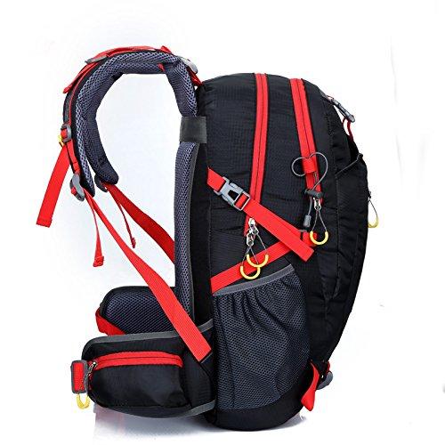 GOUQIN Outdoor Rucksack Klassische Mode Neues Upgrade) 40 L Masse Klettern Taschen Schulter Tasche Reisen Tragen Wasserdichte Outdoor Sport Rucksack