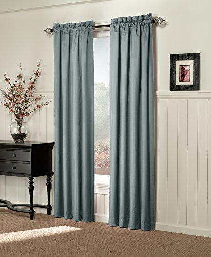 Sun Zero Alec Thermal Lined Microfiber Curtain Panel, 42 by