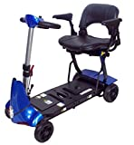 Mobie Plus Folding Travel Scooter Blue