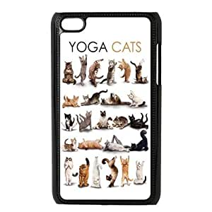Danny Store Protective Hard PC Cover Case for iPod Touch 4, 4G (4th Generation), Yoga Cats