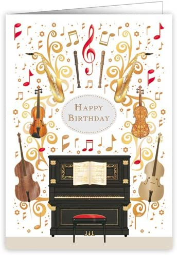 Tremendous Happy Birthday Card Featuring Musical Instruments Images Amazon Personalised Birthday Cards Cominlily Jamesorg