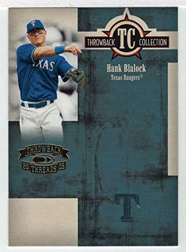 Hank Blalock (Baseball Card) 2005 Donruss Throwback Threads TC Collection # TC 61 NM/MT