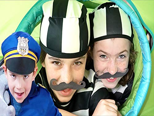 Police Costume Pretend Play With Kids Play Tent Fort - Cops And Robbers Skit