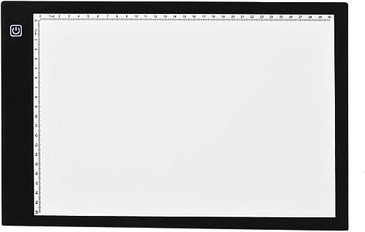 Newcare A4 LED Caja de Luz para Calcar, Mesa de Luz con Iluminación Adjustable Ultrafino para Calcar Dibujos, Animación, Tatoo: Amazon.es: Jardín