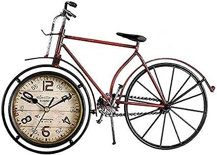 NMDD Bicicleta Retro Reloj de Metal Reloj Sala de Estar Reloj ...