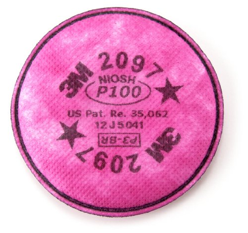 3M Particulate Filter 2097/07184(AAD), P100 Respiratory Protection, with Nuisance Level Organic Vapor Relief (Pack of 100) by 3M Personal Protective Equipment