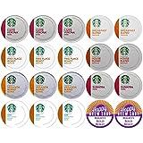 20-count STARBUCKS COFFEE K-Cup Variety Sampler Pack, Single-Serve Cups for Keurig Brewers