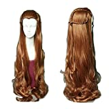 Mainlead For Cosplay Hobbit Elf Tauriel Wig Hair Costume Brown Wavy Wig