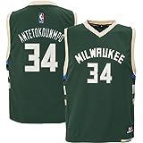 Giannis Antetokounmpo #34 Milwaukee Bucks Youth Road Jersey Green (Youth Medium 10/12)