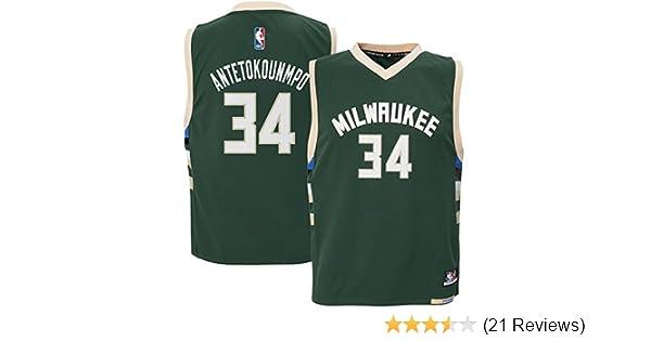 Amazon.com   Outerstuff Giannis Antetokounmpo  34 Milwaukee Bucks Youth Road  Jersey Green   Sports   Outdoors 28d951b60