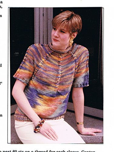 Cable Down Short Sleeve Pullover Sweater Knitting Pattern