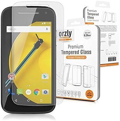 ORZLY® - Moto E (2ª Generación) Prima Cristal Templado Protector ...