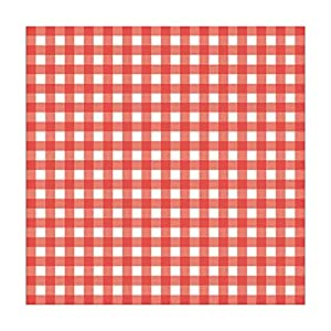 Fox Run 13201 French Fry Wax Paper Liners, Red Gingham, 24-Count