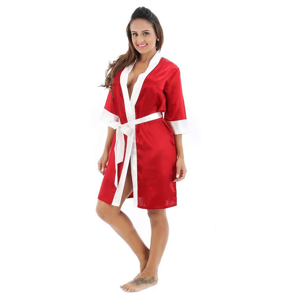 MISSMAOM Damas Honor Personalizada Ropa de Dormir Erótica para Mujer Sexy Batas Kimonos de Satén Casual Vintage Retro: Amazon.es: Ropa y accesorios