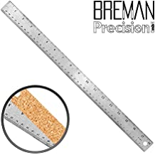 "Breman Precision Stainless Steel Cork Back Ruler (18"" Single)"