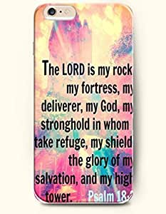 Samsung Galaxy S6 Case,OOFIT Samsung Galaxy S6 (4.7) Hard Case **NEW** Case with the Design of the lord is my rock my fortess my deliverer my god my stronghold in whom I take refuge my shield the glory of my salvation and my high tower psalm 18:2 - Case for iPhone Samsung Galaxy S6 (4.7) (2014) Verizon, AT&T Sprint, T-mobile