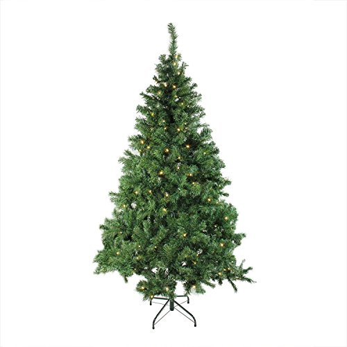 "6' x 42"" Pre-Lit Mixed Classic Pine Medium Artificial Chr..."