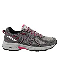 ASICS GelVenture 6 (D) Shoe Women's Trail Running 6 Carbon-Black-Pink Peacock
