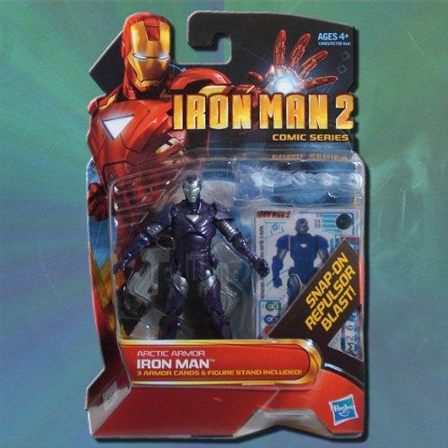 Iron Man 2 Comic Series Arctic Armor Iron Man Action Figure #33 (Iron Man 2 Toys)