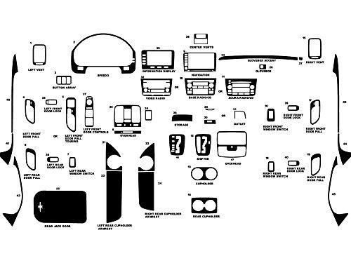 Rdash Dash Kit Decal Trim for Acura MDX 2001-2006 - Wood Grain (Burlwood Honey) (2002 Acura Mdx Dash Kit)