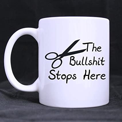 new yearchristmas day funny guy gifts funny saying the bullshit stops here tea or