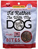 I'D Rather Be With My Dog Bites Venison Treat, 5 Oz For Sale