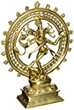 Hindu God Shiva Dancing Nataraja Brass Statue for Home Temple Mandir 11.5 Inch