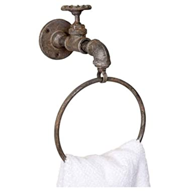 Industrial Water Spigot Towel Ring
