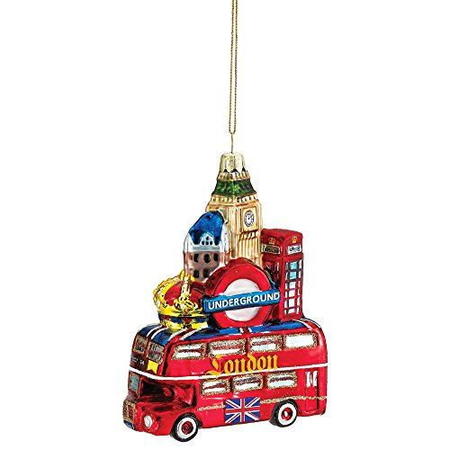 Kurt Adler Glass London City Ornament, 5-Inch