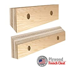 """9""""W x 46""""L Plywood French Cleat Hanger system - CHOOSE YOUR LENGHT - 3/4""""Thick"""