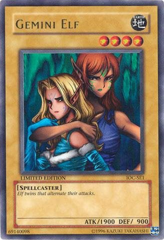 Yu-Gi-Oh! - Gemini Elf (IOC-SE1) - Invasion of Chaos: Special Edition - Limited Edition - Ultra Rare
