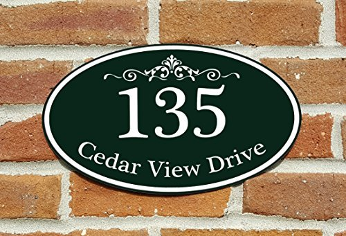 Customized Home Address Sign, Aluminum 12