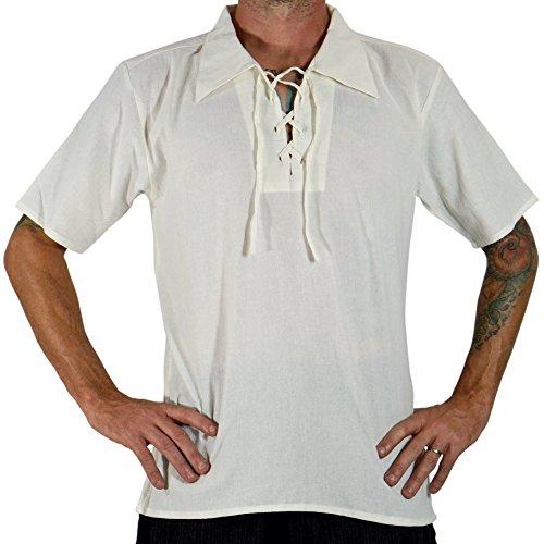 'Merchant' Renaissance Festival Costume Shirt, Pirate, Steampunk, Short