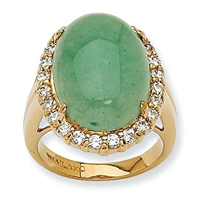 Amazon com: Jacqueline Kennedy Opaque Aventurine Ring - Ring