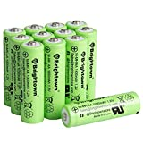 12 Pack Ni-Mh AA 1000mah 1.2v Pre-Charged Rechargeable AA Batteries for Solar Lights Battery String Lights Digital Camera Remote