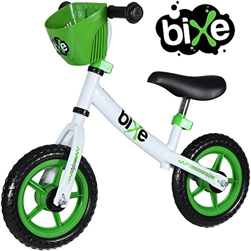 """10"""" Balance Bike for Kids and Toddlers - No Pedal Push and Stride Walking Bicycle (Green)"""